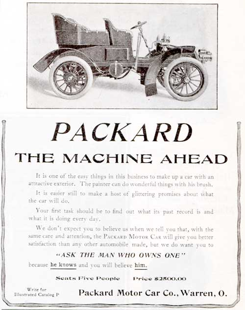 Packard Car Ad April 25, 1903