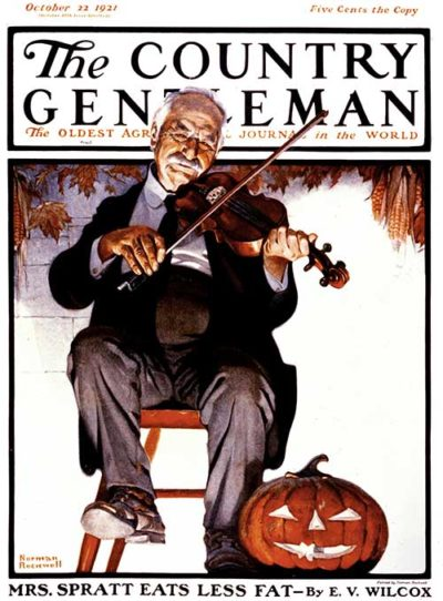 Halloween Fiddler by Norman Rockwell CG October 22, 1921