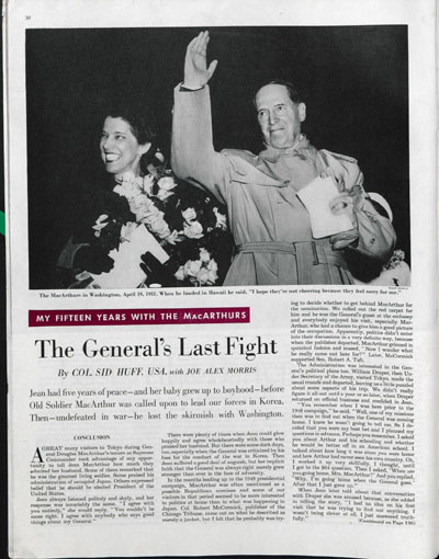 The General's Last Fight by Col. Sid Huff. October 27, 1951