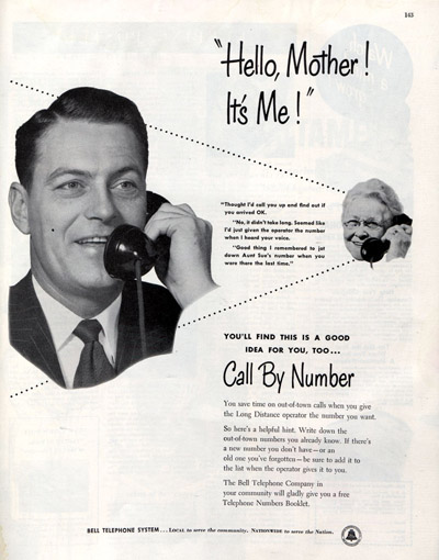 1953 advertisement for Bell telephone