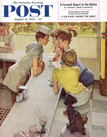 The Soda Jerk  Norman Rockwell  August 22, 1953