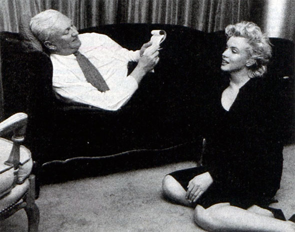 Pete Martin and Marilyn Monroe