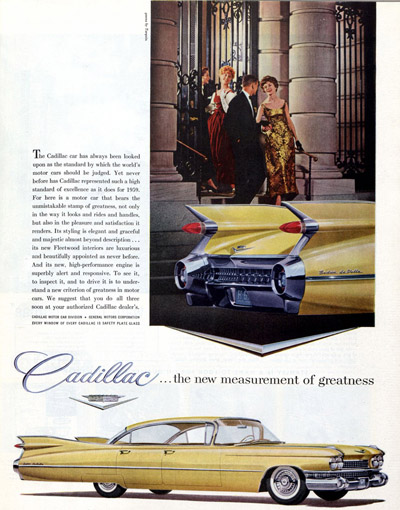 1958 advertisement for Cadillac