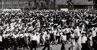 Cubans Marching in May Day, 1962