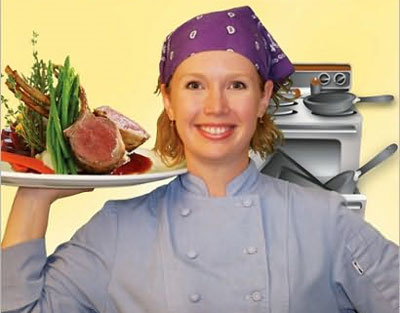 Jennifer Schaertl, author of Gourmet Meals in Crappy Little Kitchens.  HCI Books; April 2010