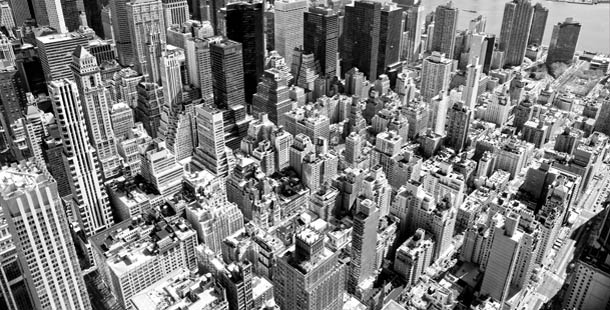 Arial view of Manhattan