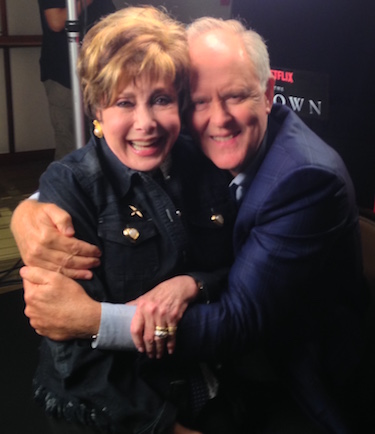 Author Jeanne Wolf with John Lithgow
