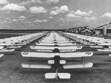 US Army planes on Randolf Field tarmac in the 1930s