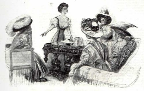 Women suffragists in a meeting