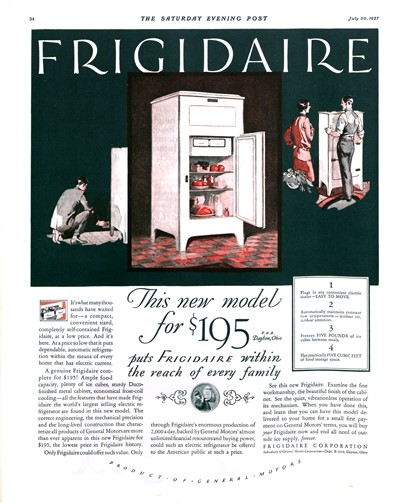 Vintage Advertising The New Frigidaire The Saturday