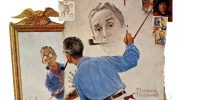 Norman Rockwell painting his self-portrait