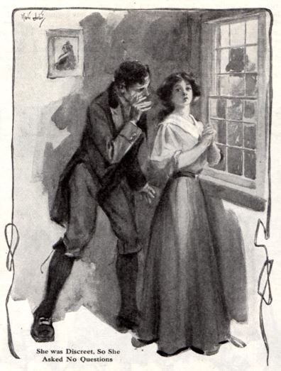Man whispering to a woman