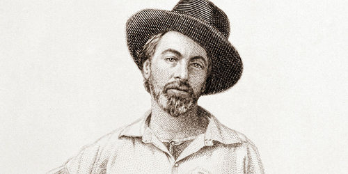 Engraving of a young Walt Whitman