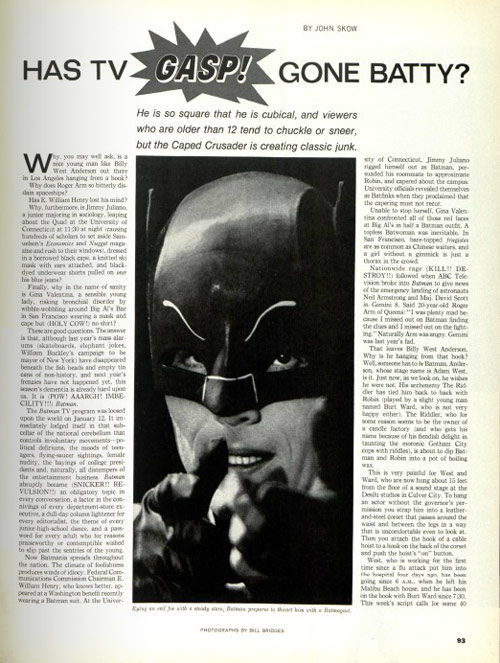 Article page featuring Batman
