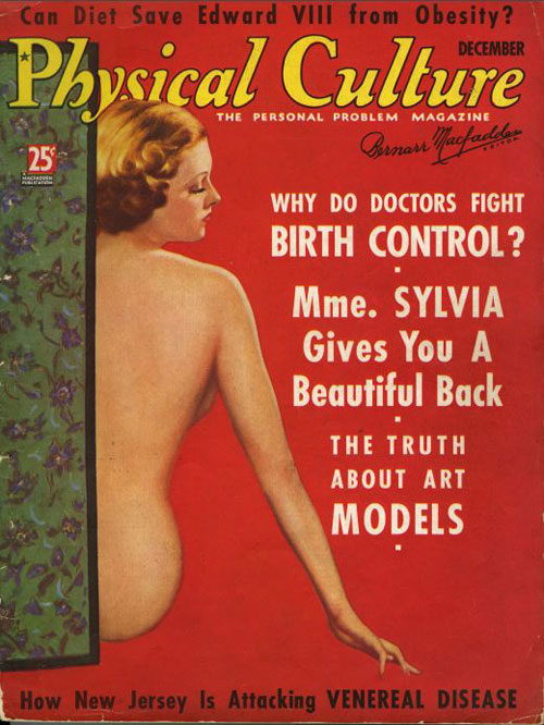 Magazine cover for Physical Culture