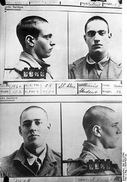 Mug shots of Nathan Leopold and Richard Loeb, 1924.