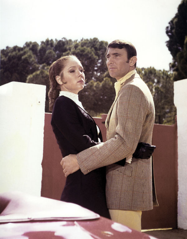Diana Rigg and George Lazenby in On Her Majesty's Secret Service