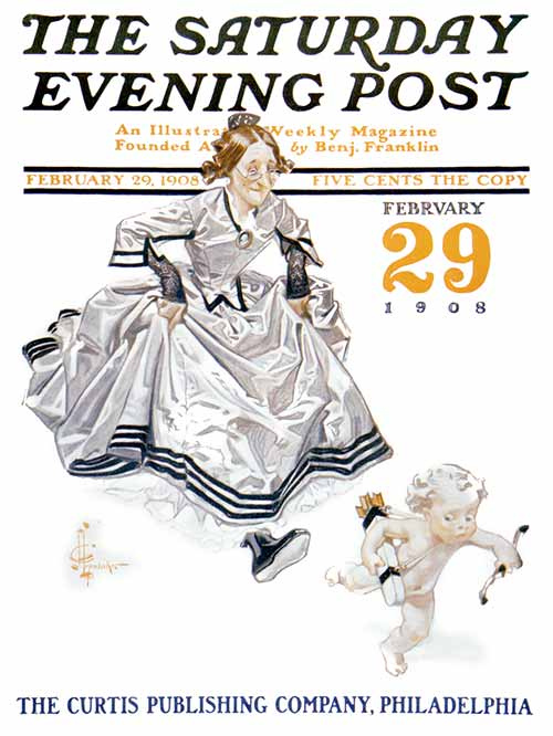 """Leap Year by J.C. Leyendecker from February 29, 1908"