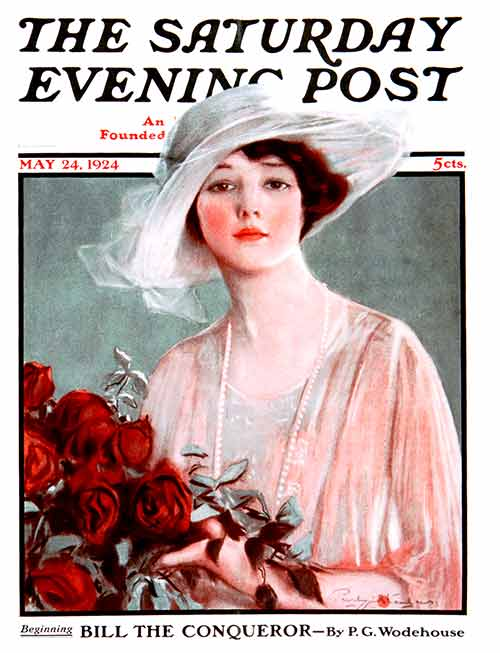 Bouquet of Roses by Penrhyn Stanlaws From May 24, 1924