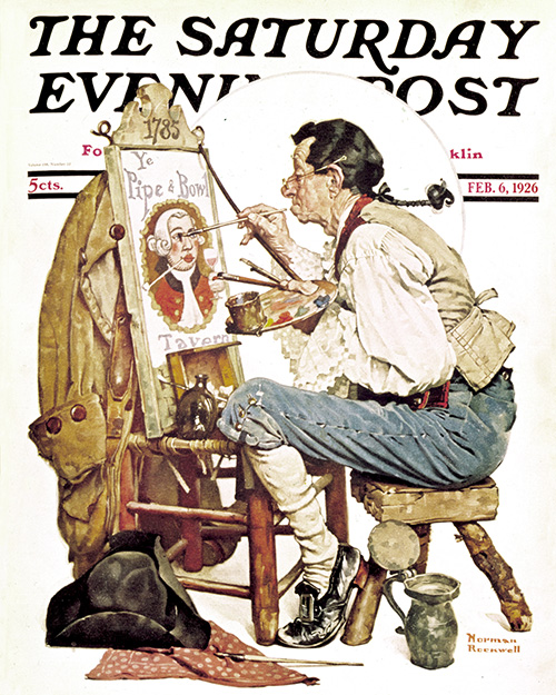 The Old Sign Painter by Norman Rockwell