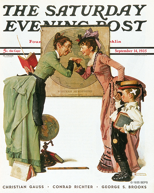 First Day of School, by Norman Rockwell, September 14, 1935