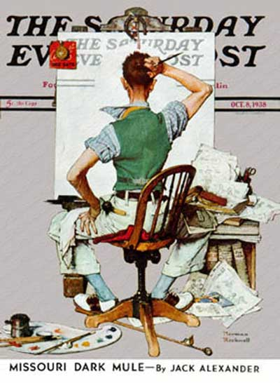 Blank Canvas by Norman Rockwell.