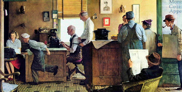 Norman Rockwell Visits a Country Editor Norman Rockwell May 25, 1946