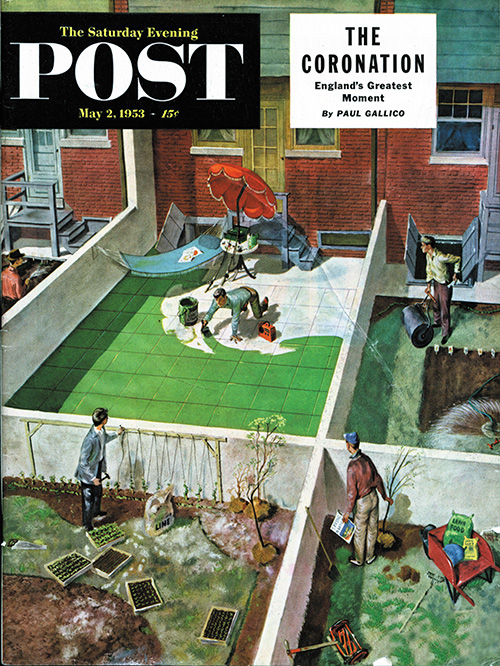 Painting the Patio Green by Thornton Utz