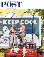 Billboard painters keeping cool in summer heat