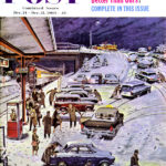 """Commuter Station Snowed In,"" December 24, 1960 Post cover by Ben Kimberly Prins"