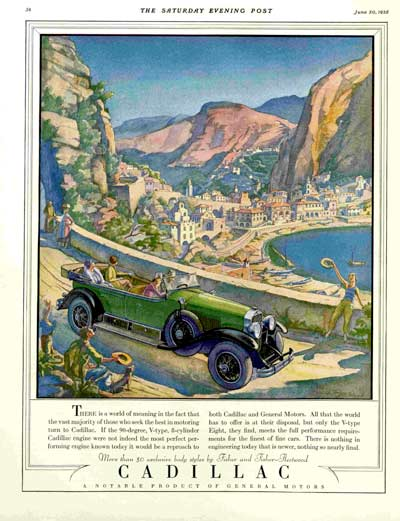 """Cadillac"" by T.M. Cleland 6/30/1928"