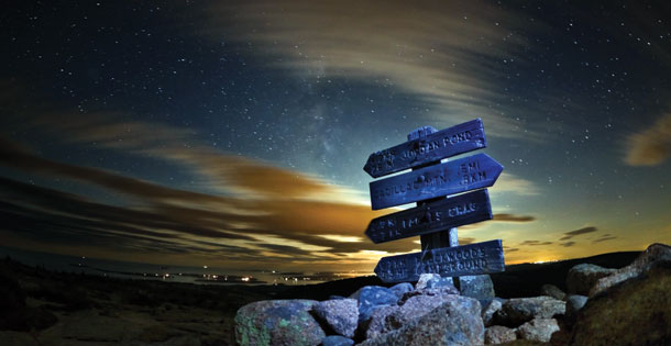 Night sky at Acadia National Park on Mt. Desert Island, Maine