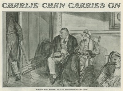 Some illustrators chose to emphasize Chan's oriental 'other-ness.'