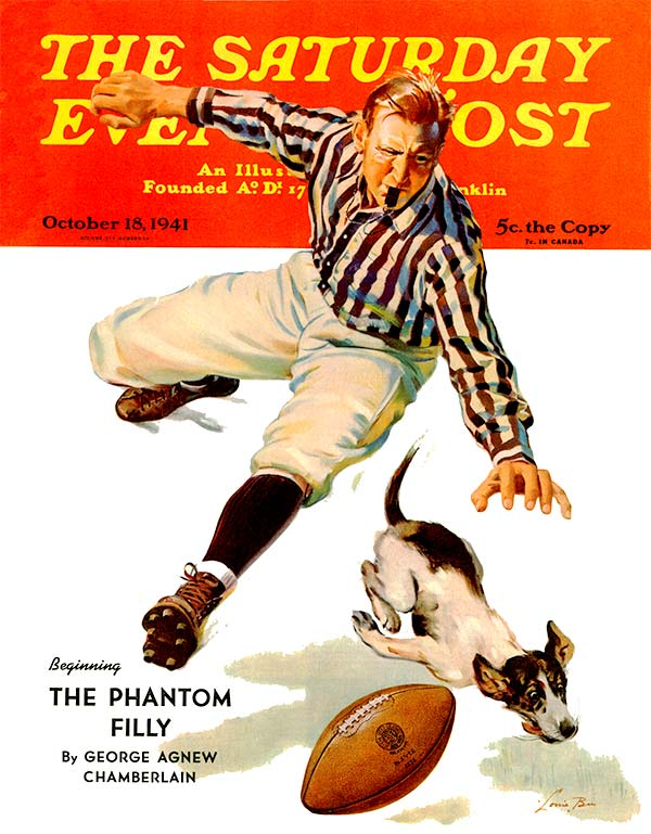 Dog on the Field by Lonie Bee from October 18, 1941