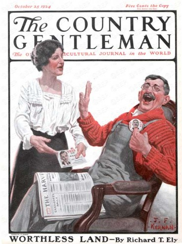 He Won't Win! by J.F. Kernan from Country Gentleman October 25, 1924