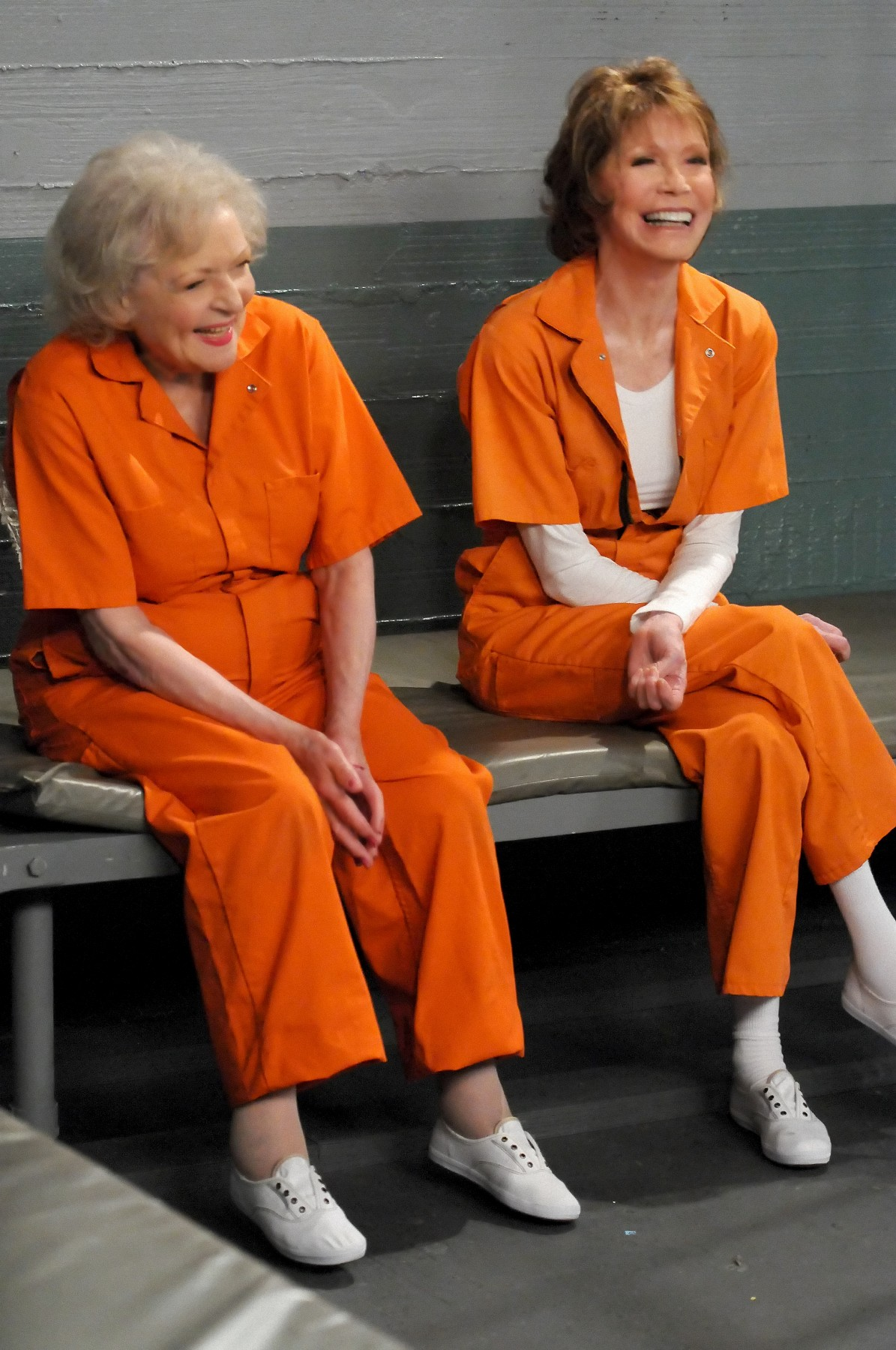 "Betty White and Mary Tyler Moore in a scene from ""Hot in Cleveland."" Photo Courtesy TV Land."