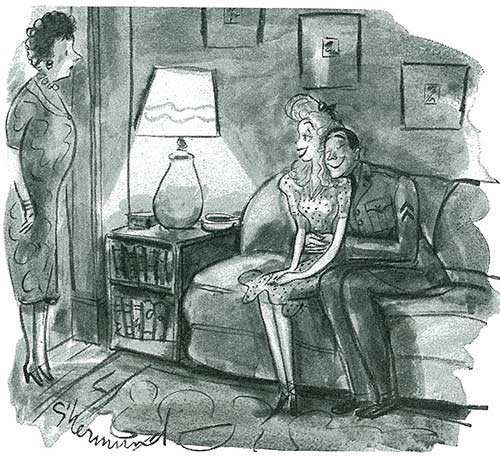 """This is Corporal McClane, mother! He's snatching a last moment of happiness."" From August 8, 1942"