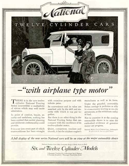 National Car Ad January 1, 1918