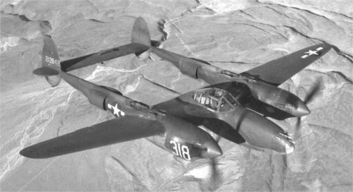 A Lockheed P-38 Lightning fighter, the same kind of aircraft used to take down Japan's General Yamamoto in 1943.