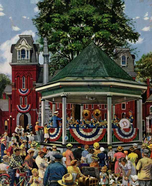<em>Patriotic Band Concert</em> <br /> Stevan Dohanos <br /> July 7, 1951 © SEPS