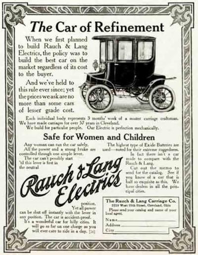 Rauch & Lang Car Ad 1910