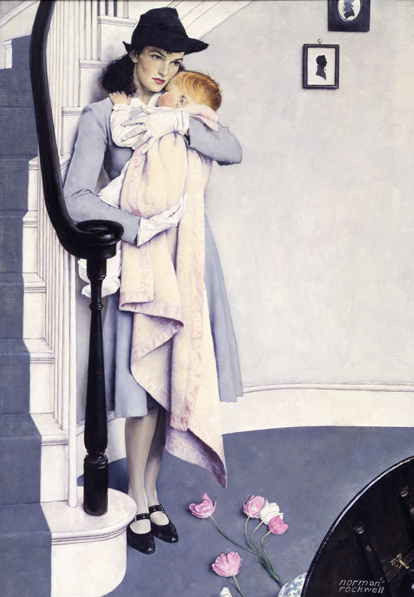 "Norman Rockwell (1894-1978), Red Head, 1940. Story illustration for American Magazine, November 1940. Oil on canvas, 37 1/8"" x 26"". National Museum of American Illustration collection. © Norman Rockwell Family Agency. All rights reserved."