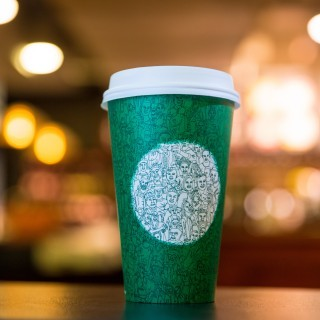 Green Starbucks cup