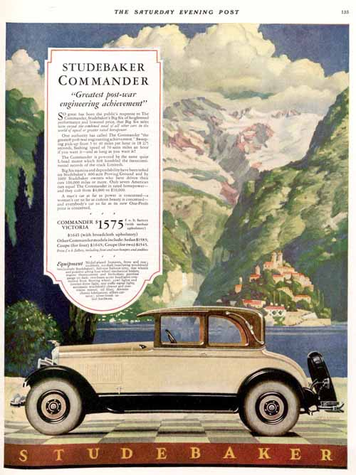 Studebaker Car Ad May 28, 1927