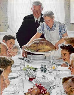Freedom from Want by Norman Rockwell
