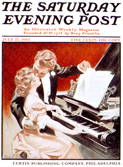 Couple Kissing at Pianoby Frank X. LeyendeckerJuly 27, 1907