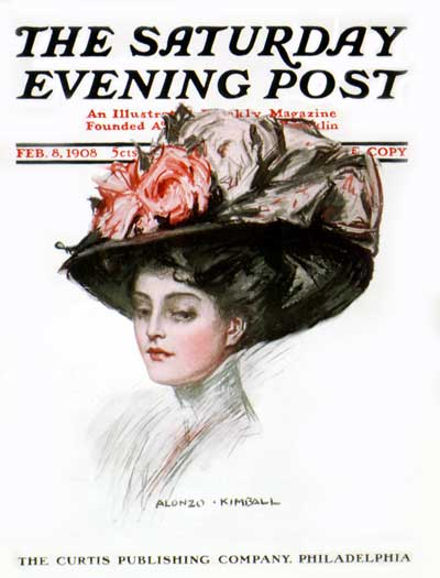 A woman wearing a huge hat.