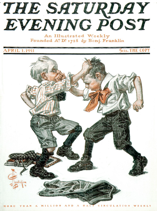 School Boys FightingJ.C. LeyendeckerApril 1, 1911