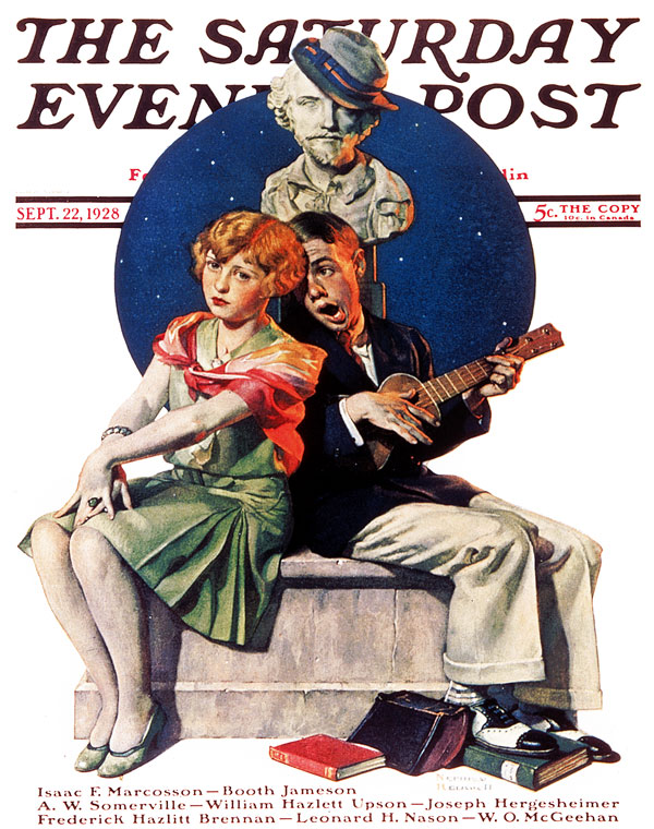 Serenade by Norman Rockwell. September 22, 1928.