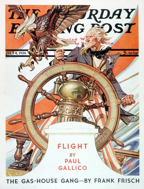 J.C. Leyendecker Uncle Sam at the Helm July 4, 1936